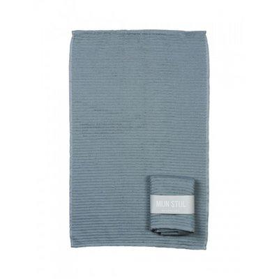 Mijn Stijl - Handtuch Blau/grau