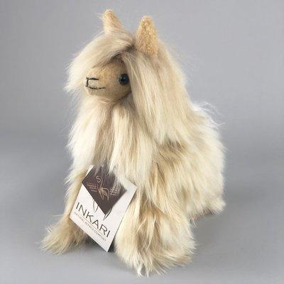 Inkari - Alpaca Stofftier Suri Gold Small